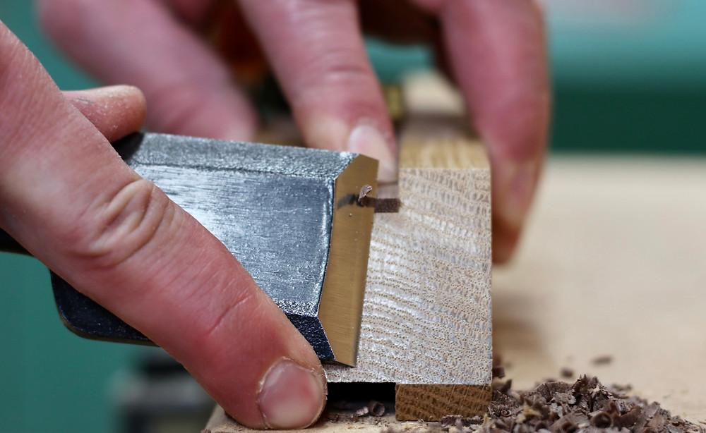 Kumiko Japanese wood lattice art work in processby Adam Bergeron