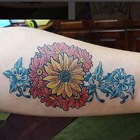 Colorado C Wildflowers Design Tattoo
