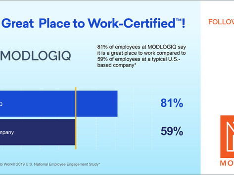 MODLOGIQ Certified as a Great Place to Work®