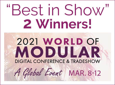 """Two """"Best in Show"""" Winners at 2021 World of Modular!"""