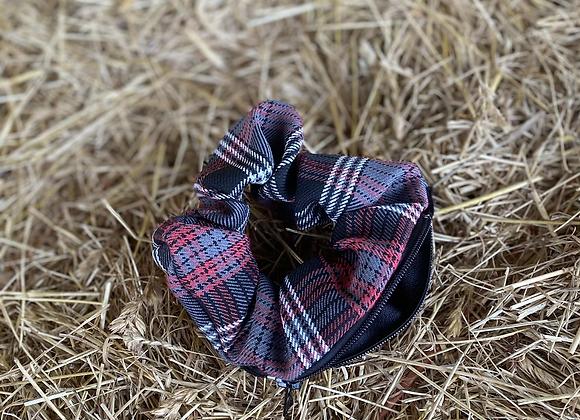 Black and red tartan Teri Scrunchie (small)