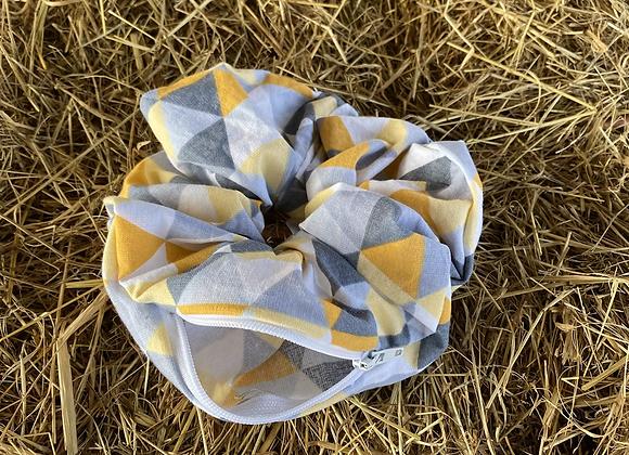 Gem scrunchie (geometric) (large)