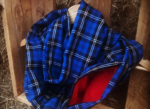 Limited edition Blue tartan Roo (scarf with pocket)