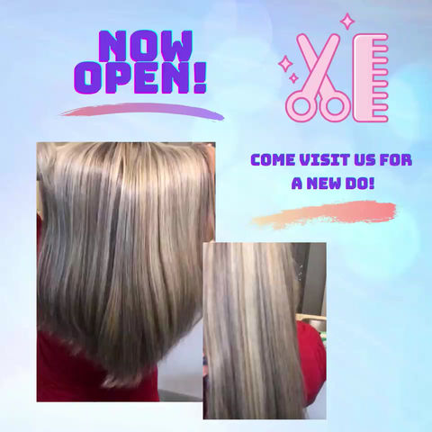 Now Open! Book your next hair transformation now!