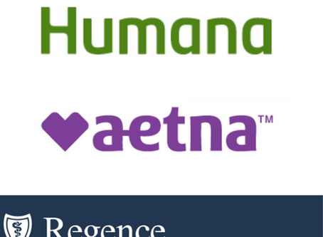 Humana, Aetna and Regence BCBS Insurance Carriers Now In-Network