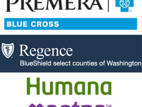 *New* In-Network Insurance: Premera Blue Cross. Also with Humana, Aetna and Regence BCBS