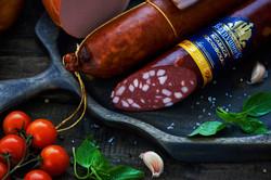 Верено-копченая колбаса Бахрушинъ