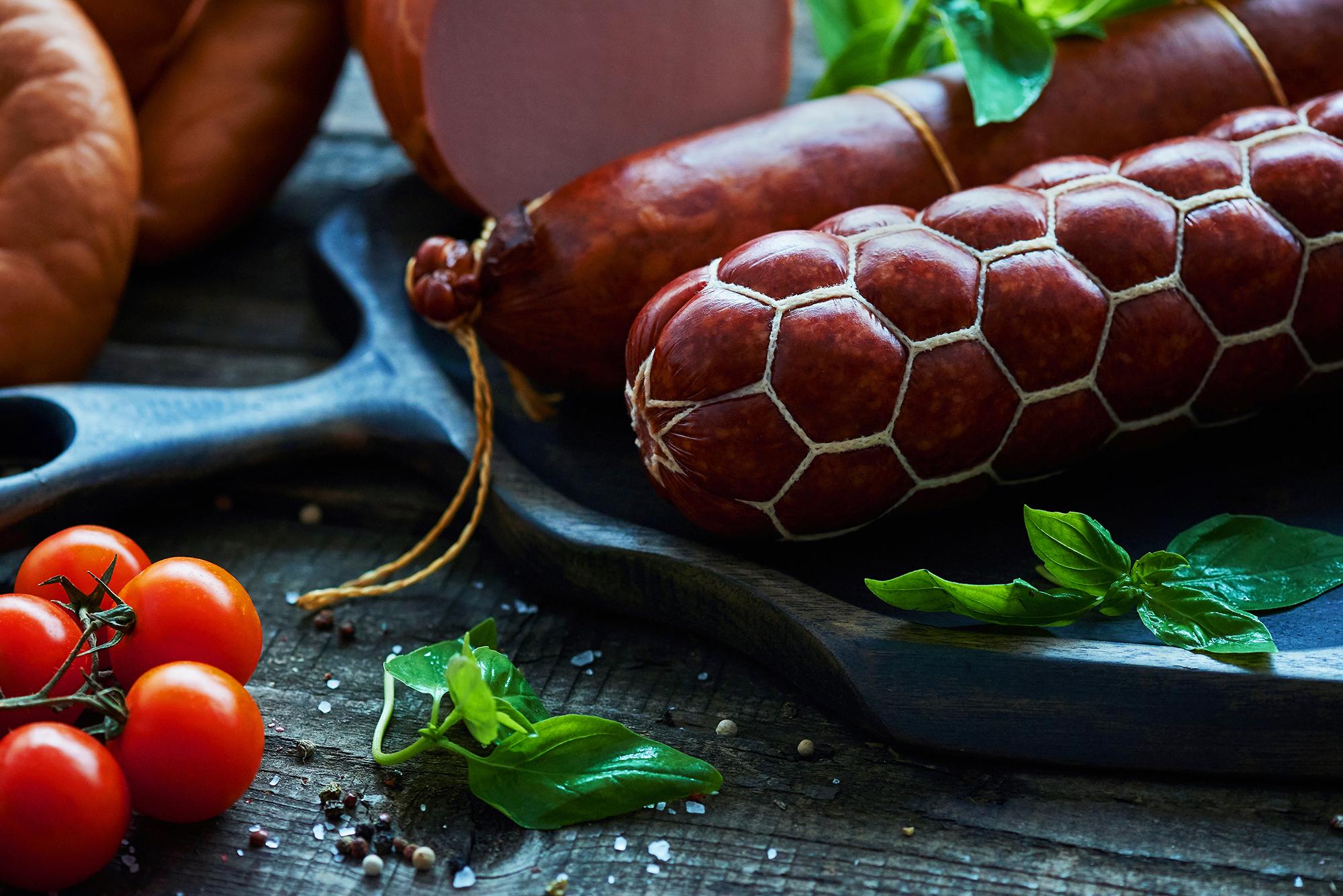 Варено-копченая колбаса Бахрушин