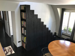 Escalier chêne et bois brûlé