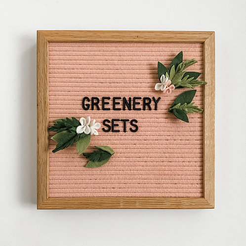 Letterboard Accessories - letterboard ornament - Spring - Greenery Set