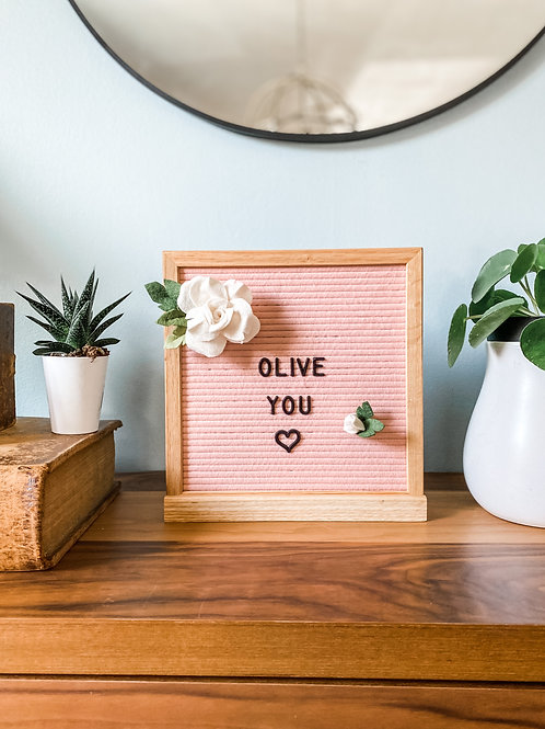 Letterboard Accessory // Rose & Rose Bud // Valentine's Day