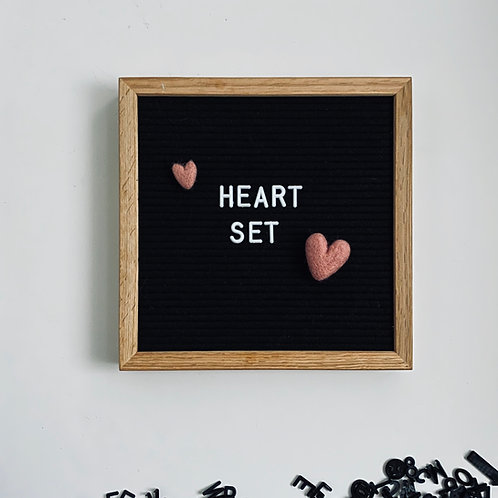 Letterboard Accessories - letterboard ornament - Spring - Heart Set