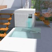 Le patio : restanques et cascades