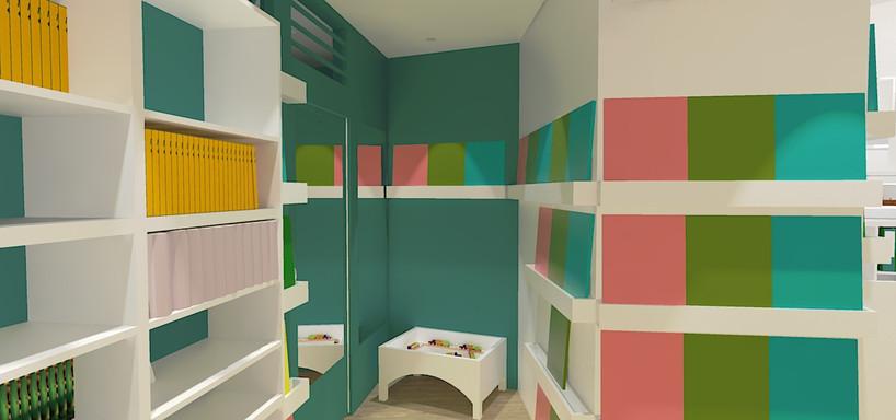 Un espace pour les enfants et exposition des grands livres
