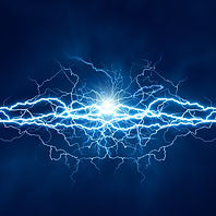 Electric lighting effect, abstract techn