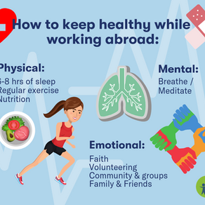 How to Keep Healthy While Working Abroad