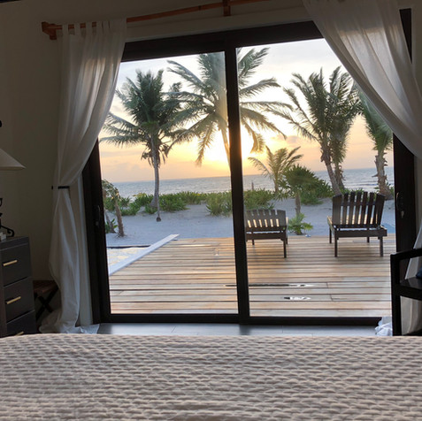 Watch the sunrise over the Caribbean from the comforts of your bed in the downstairs master bedroom.