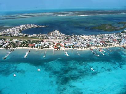 San Pedro Town Aerial View