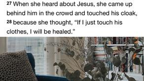 When she heard about Jesus...