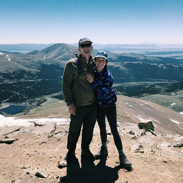 Jackson and I on top of a 14,000 foot mountain in Colorado.