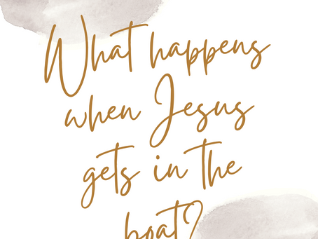 What happens when Jesus gets in the boat?