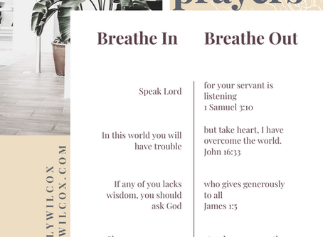 5 Breath Prayers from Scripture