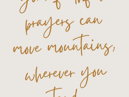 Positioning yourself in Prayer