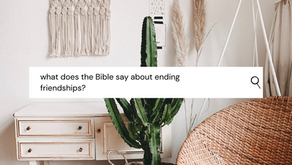 Friendship Breakups: What does the Bible say about ending friendships?