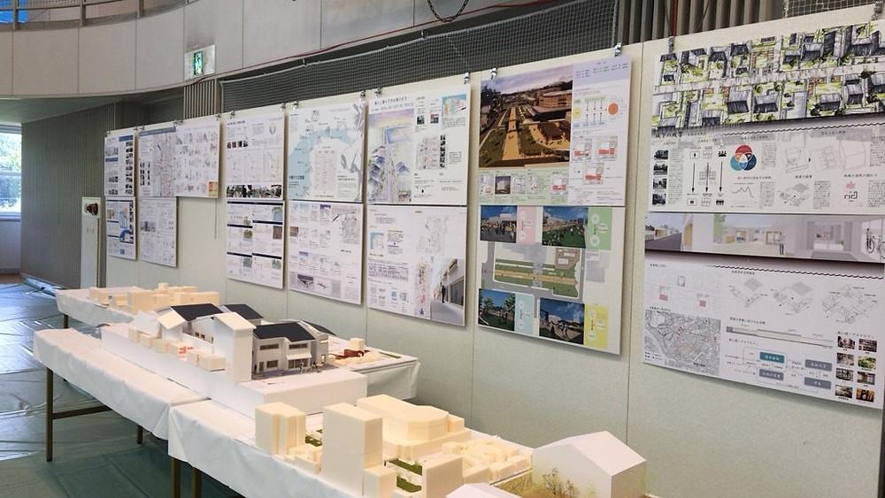 建築学会での展示風景