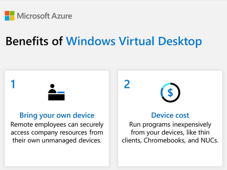 Watch this infographic to see 6 key benefits of using Windows Virtual Desktop.