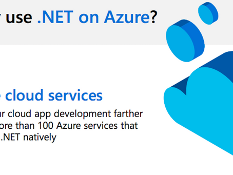 Watch this infographic to see what benefits there is to using .NET on Azure