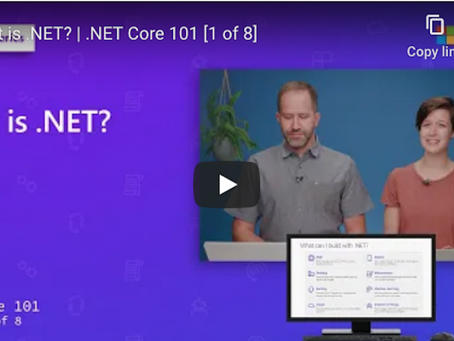 Watch this video to see the benefits of using .NET