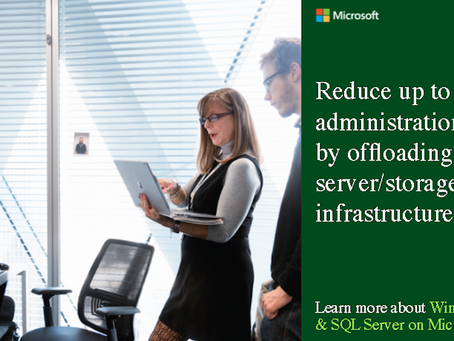 Reduce up to 80% in administration costs by offloading server/storage infrastructures