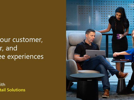 Enrich your customer, manager, and employee experiences. Get started with Microsoft Retail Solutions