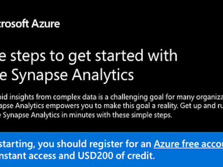 Check out this easy 1,2,3 step process to get started in Azure Synapse