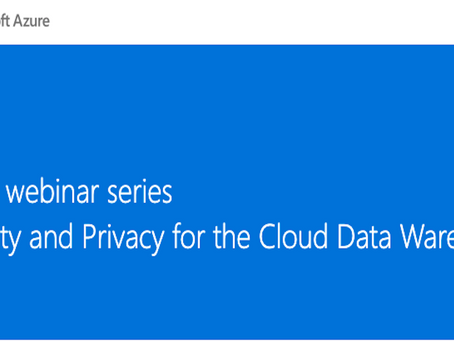 Free Webinar - Find out more about the key elements of Security and privacy for cloud data warehouse