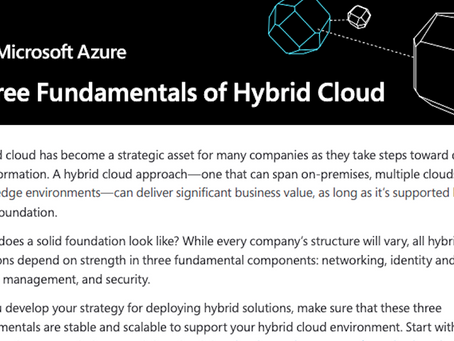 The three critical elements required for a successful Hybrid Cloud environment