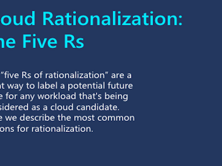 Cloud rationalization: The five Rs