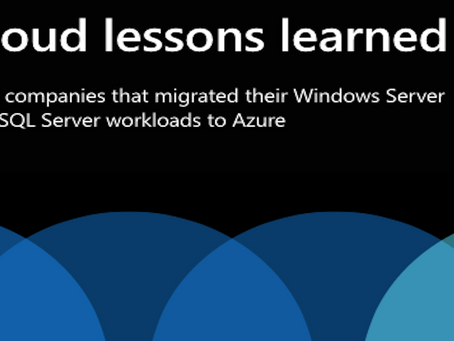 Cloud lessons learned - eBook to provide insights