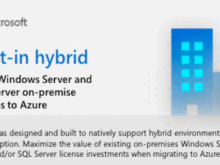 See how Azure provide built-in hybrid environments.