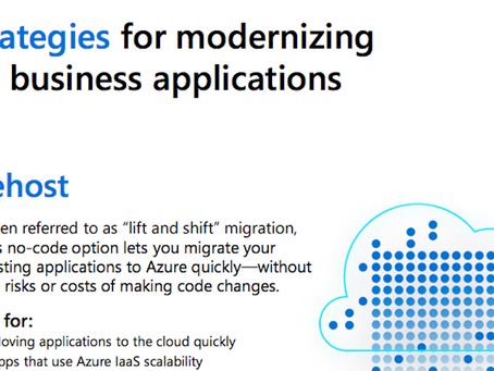 Here are options to consider when deciding on your cloud migration strategy. Download and subscribe
