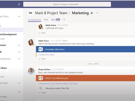 Create instant remote work meetings with Microsoft Teams