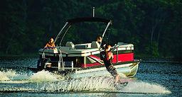 Sport pontoon tubing kneeboarding