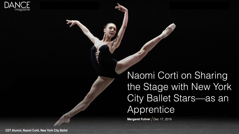 CDT Alumni, Naomi Corti - NYC Ballet
