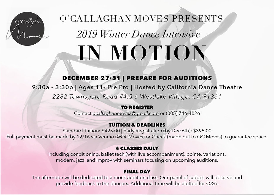 2019 Winter Dance Intensive at CDT