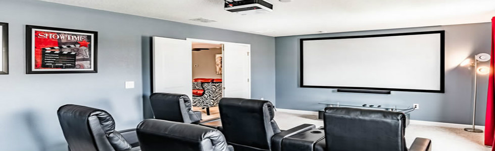 Champions Gate Resort Home Theater Room