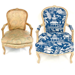 Before and After Occassional Chairs