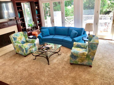Wing Chairs and Sofa