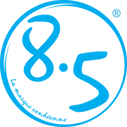 Logo 8-5 la marque vend_enne bleu