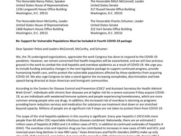 Hep B Free Signs on to Letter Urging Congress to Address Important Hepatitis and Harm Reduction need